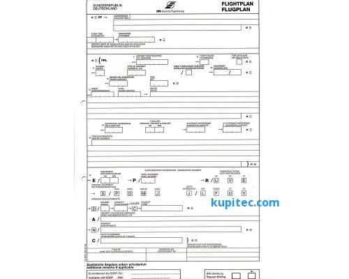 План полета (10 шт.) (DE)