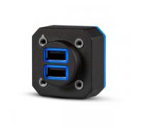 Двойной USB-порт для зарядки Garmin GSB 15 (тип A) - версия для установки с вертикальным разъемом, TSO-C71