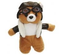 Брелок пилот медведь в очках