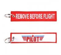 "Брелок ""REMOVE BEFORE FLIGHT / PILOT"""