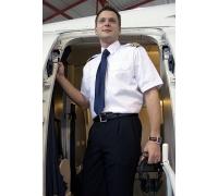 Рубашка мужская пилот, MODERN FIT, белый, короткие рукава