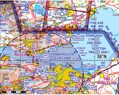 Flight Planner / Sky-Map ICAO-Karte Großbritannien