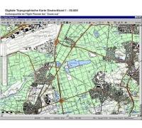 Flight Planner / Sky-Map Topographische Karte Schleswig-Holstein und Hamburg
