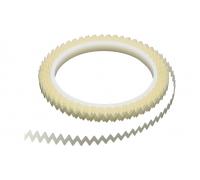Зубчатая лента турболатора, зазубренный угол 60 °