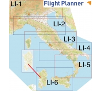 Flight Planner / Sky-Map Aerotouring VFR-Karte Italien