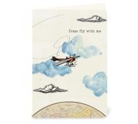 "Сложенная открытка ""Come fly with me"""