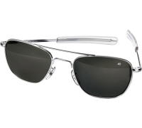 Солнцезащитные очки AO Original Pilot Sunglasses®, ширина линз 52 мм, блестящая хромированная оправа