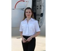 """Рубашка """"Pilot"""" женская с коротким рукавом"""