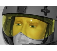 Сменный козырек, желтый, только для шлемов с двойным козырьком