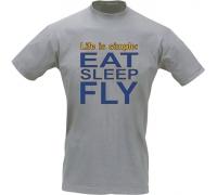 Футболка пилота EAT SLEEP FLY