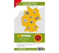 Avioportolano Flugplatz-Informationskarte Deutschland