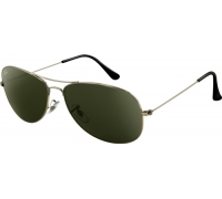 Очки-авиаторы с серо-зелеными