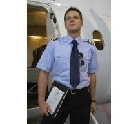 Мужская рубашка для пилота, КОМФОРТНЫЙ КРОЙ, голубой, короткие рукава