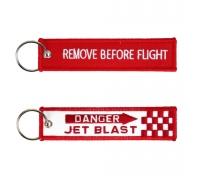 "Брелок ""REMOVE BEFORE FLIGHT / JET BLAST"""