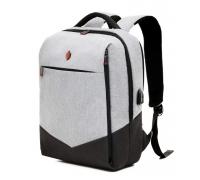 """Деловой рюкзак """"Krimcode"""" Объем 19,6 л, светло-серый (KBFB07-1NLGM)"""