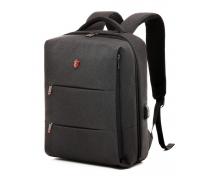 Деловой формальный рюкзак Krimcode - объем 19,6 л, темно-серый (KBFB06-1NDGM)