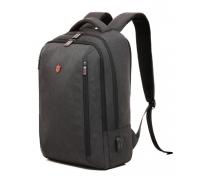 Деловой формальный рюкзак Krimcode - объем 20,7 л, темно-серый (KBFB15-1NDGM)