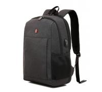 Деловой формальный рюкзак Krimcode - объем 22,6 л, темно-серый (KBFB22-1NDGM)